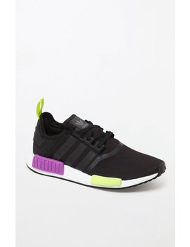 Adidas Nmd R1 Black & Purple Shoes by Pacsun