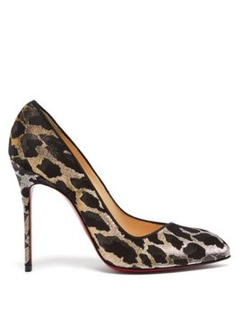 Corneille 100 Leopard Brocade Pumps by Christian Louboutin