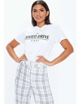 White Rodeo Drive Graphic T Shirt by Missguided