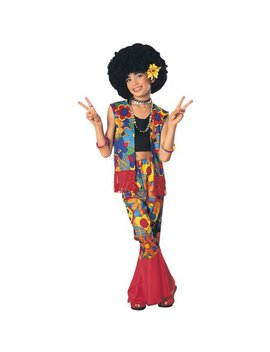 Girl's Flower Power Hippie Costume by Decades