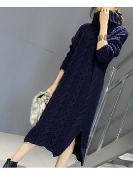 Women Turtleneck Sweater Thicken Pullover Dress Long Warm Blouses Slim Fit Tops by Unbranded