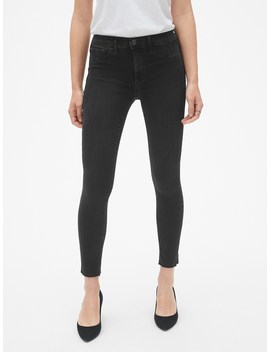 Mid Rise Favorite Ankle Jeggings With Raw Hem by Gap