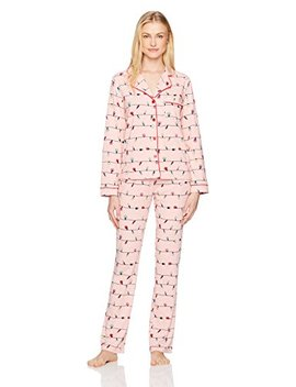 Mae Women's Notch Collar Pajama Set by Mae