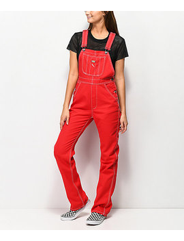 Dickies Twill Red Overalls by Dickies