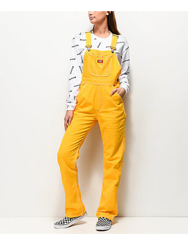 Dickies Twill Yellow Overalls by Dickies