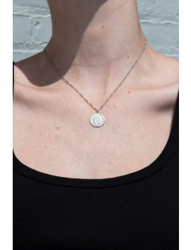 Silver Coin Necklace by Brandy Melville