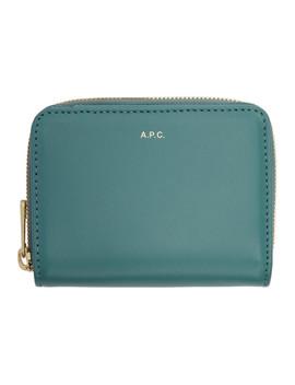 Blue Emmanuelle Compact Wallet by A.P.C.