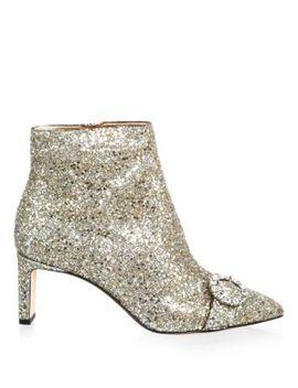 Glittered Side Zip Booties by Jimmy Choo