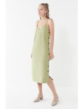 Uo Monica Side Button Slip Dress by Urban Outfitters