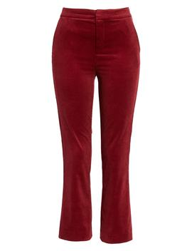 Marcena Velvet Crop Flared Pants by Joie