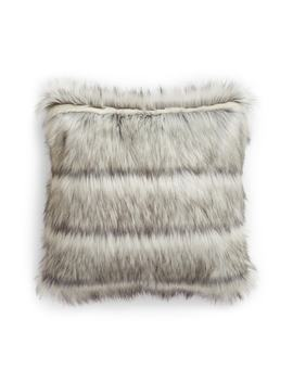 Luxe Faux Fur Stripe Accent Pillow by Nordstrom At Home