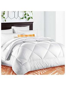 King Comforter Soft Quilted Down Alternative Duvet Insert With Corner Tabs Summer Cooling 2100 Series,Luxury Fluffy Reversible Hotel Collection,Hypoallergenic For All Season,Snow White,90 X 102 Inches by Tekamon