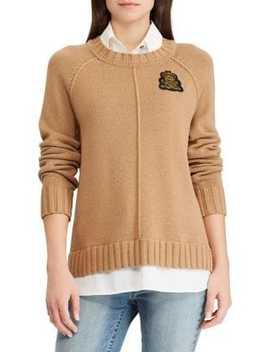 Bullion Patch Two Fer Sweater by Lauren Ralph Lauren