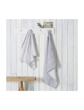 Set Of 2 Heart Print Tea Towels by The White Company