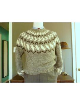 Rare Vintage Handmade In New Hampshire Chunky Knitted Ski Sweater Size Large. by Etsy