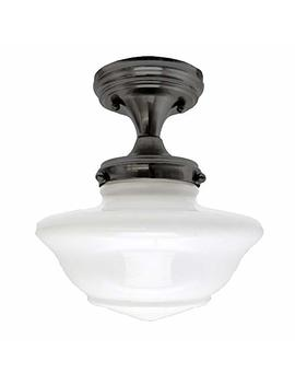 Design House 577502 Schoolhouse 1 Light Ceiling Light, Oil Rubbed Bronze by Design House