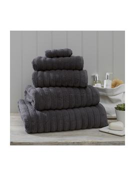 Ribbed Jumbo Super Hydrocotton Towel by The White Company