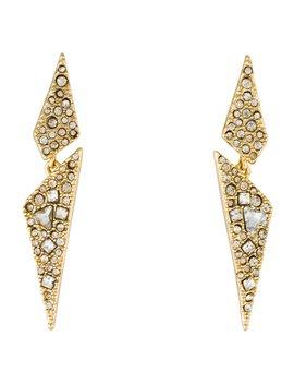 Crystal Encrusted Origami Drop Earrings by Alexis Bittar