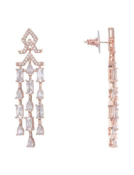 Mini Cubic Zirconia Fringe Earrings by Nina