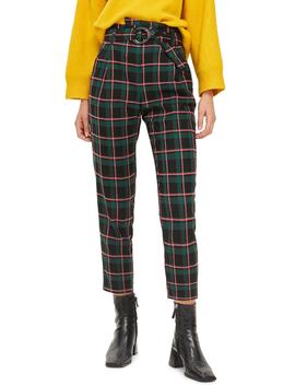 Punk Check Trousers by Topshop