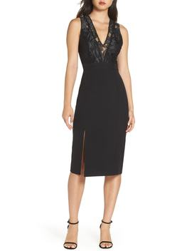 Kate V Neck Lace Sheath Dress by Nsr