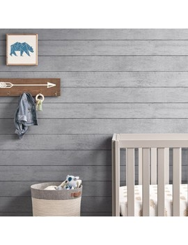 Peel & Stick Wallpaper Textured Planks Gray   Cloud Island™ by Cloud Island™