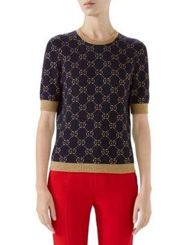 Gg Cotton Lurex Knit by Gucci