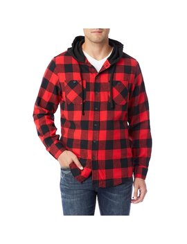 Men's Unionbay Switchback Flannel Hooded Button Down Shirt by Kohl's