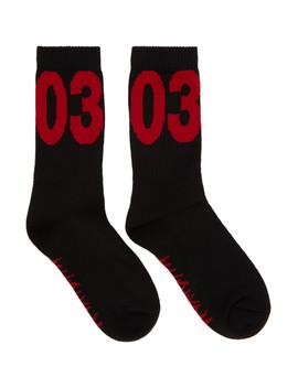 Black 'workshop' Socks by 032 C