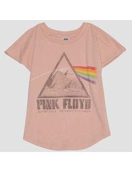 Junk Food Toddler Girls' Pink Floyd Short Sleeve T Shirt   Pink by Junk Food