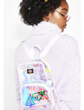 Champagne Iridescent Mini Backpack by Dickies