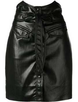 Horned Waist Mini Skirt by Nanushka