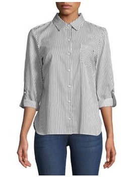 Conductor Stripe Boxy Buttoned Shirt by Tommy Hilfiger