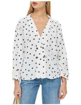 Tall Spot Button Blouse by Topshop