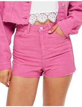 High Waisted Denim Shorts by Topshop