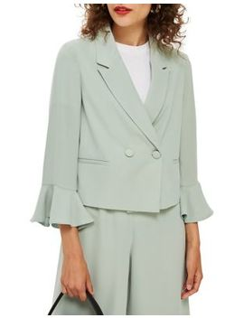 Cropped Double Breasted Jacket by Topshop