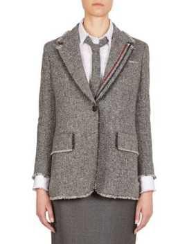 stripe-wide-lapel-wool-jacket by thom-browne