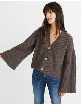 Wide Sleeve Crop Cardigan Sweater by Madewell