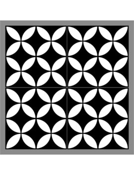 "Mulia Tile Gallery 8"" X 8"" Ceramic Field Tile In Redondo Black/White by Mulia Tile"