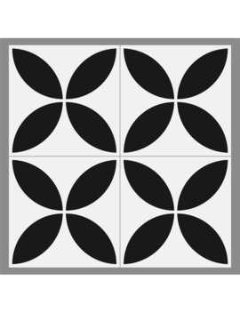 "Mulia Tile Gallery 8"" X 8"" Ceramic Field Tile In Avila Black by Mulia Tile"