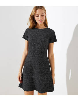 Petite Flecked Pocket Flare Dress by Loft