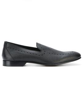 Punch Hole Detailed Loafers by Dolce & Gabbana