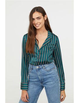 Long Sleeved Satin Blouse by H&M