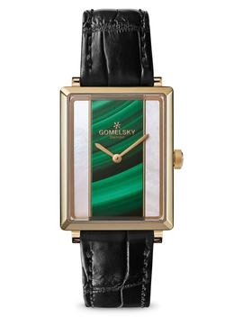 The Shirley Fromer Alligator Strap Watch, 32mm X 25mm by Gomelsky