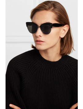 Cat Eye Acetate And Silver Tone Sunglasses by Alaïa