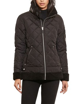 Berber Quilted Bomber Jacket W/ Faux Shearling Trim by Lauren Ralph Lauren