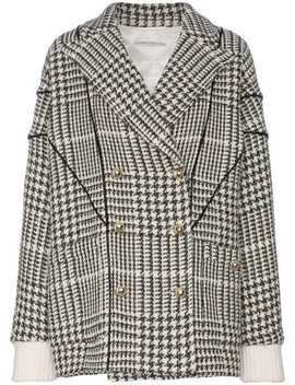 Double Breasted Houndstooth Jacket by Alessandra Rich