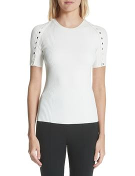 Snap Sleeve Top by Alexander Wang
