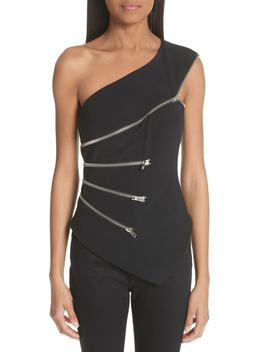 Zip Detail One Shoulder Top by Alexander Wang