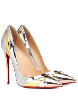 Eklectica 120 Metallic Leather Pumps by Christian Louboutin